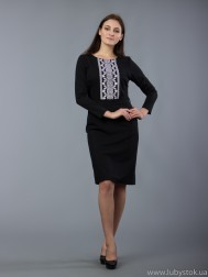 Вишита сукня хрестиком ЖПВ 55-2