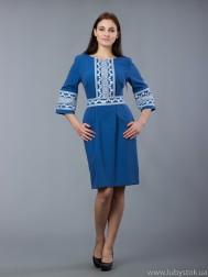 Вишита сукня хрестиком ЖПВ 60-1