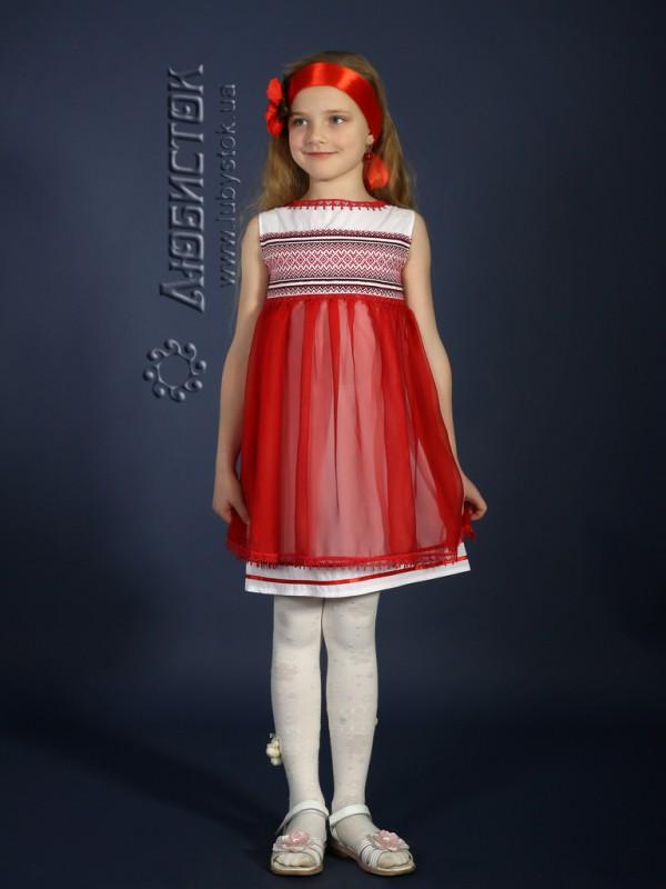 Вишита сукня для дівчинки ЖП 16-35