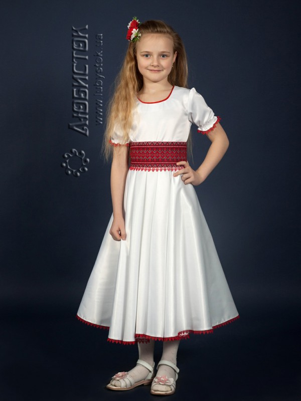 Вишита сукня для дівчинки атласна ЖП 47-72