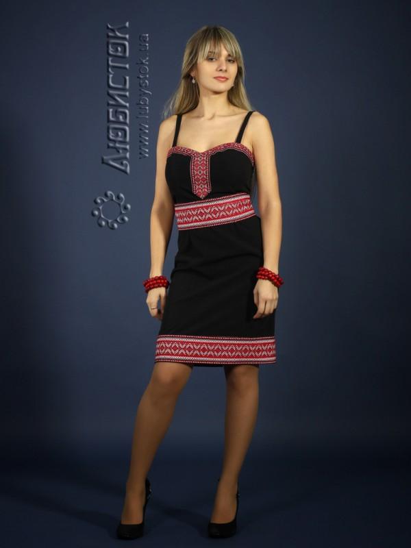 Вишита сукня ЖП 74-26bk