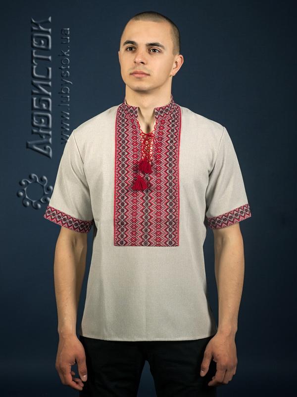 Вишита сорочка на льоні ЧС 16-57L