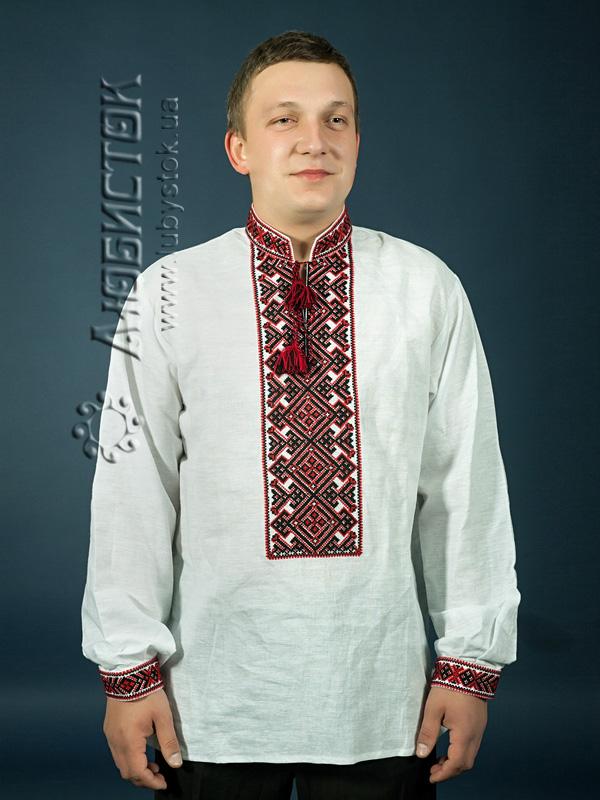 Вишита сорочка хрестиком ЧСВ 3-2