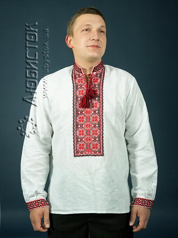 Вишита сорочка хрестиком ЧСВ 4-1L