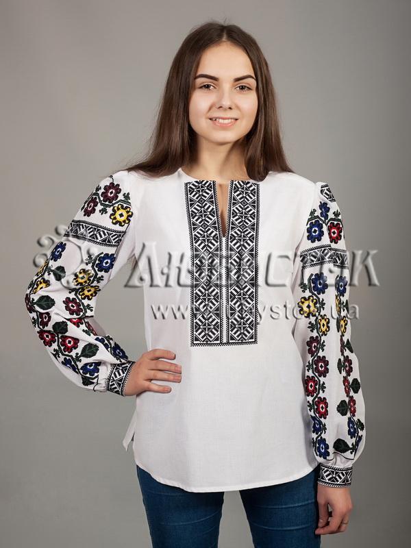 Вишиванка хрестиком жіноча ЖБВ 26-1 - квіти- купити 35c96192d5392